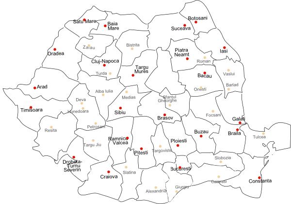 Hartaromaniei-judete